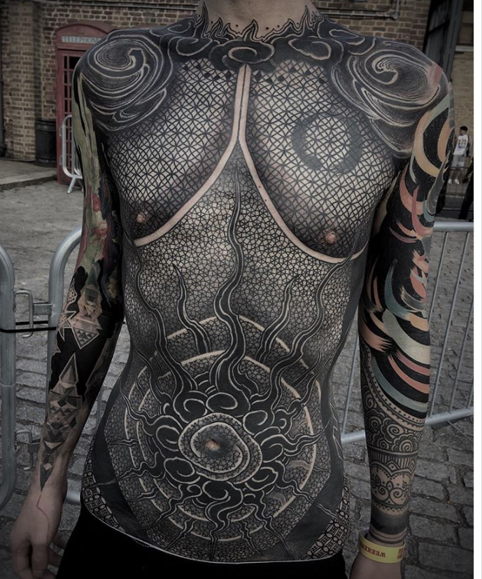 3be2d8c58 ... tattoo studios of Osaka and Kyoto under his belt, Gakkin is able to  escape any kind of classification. Despite extensively using black ink in  his work, ...